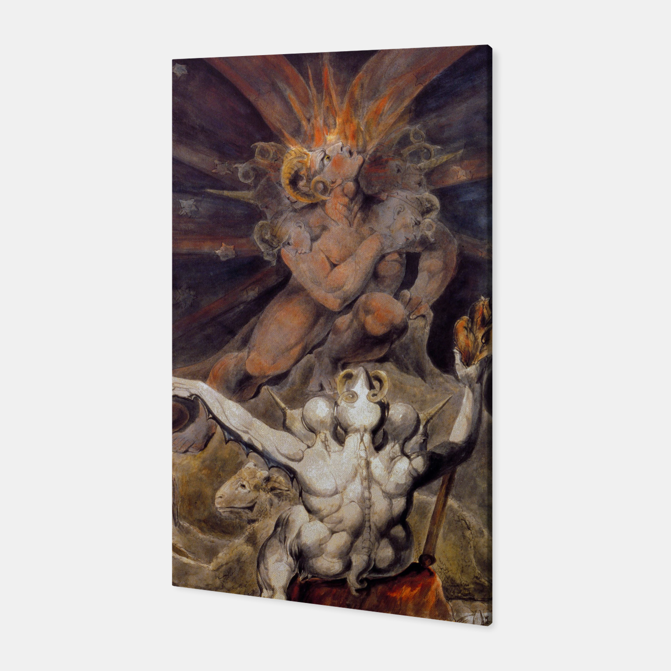 Zdjęcie Fashion items of William Blake painting The number of the Beast, 666 Canvas - Live Heroes
