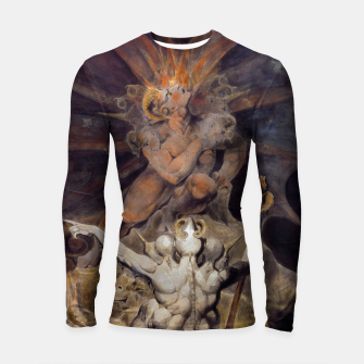 Miniaturka Fashion items of William Blake painting The number of the Beast, 666 Longsleeve rashguard , Live Heroes