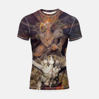 Miniaturka Fashion items of William Blake painting The number of the Beast, 666 Shortsleeve rashguard, Live Heroes