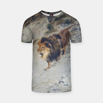 Thumbnail image of Fashion items  of Richard Friese painting, Lion T-shirt, Live Heroes