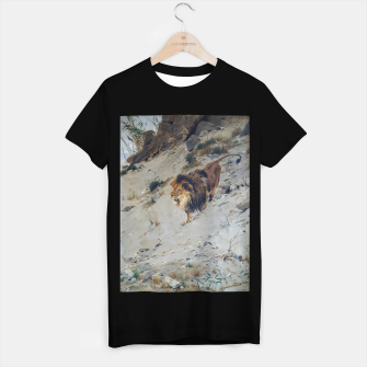 Thumbnail image of Fashion items  of Richard Friese painting, Lion T-shirt regular, Live Heroes