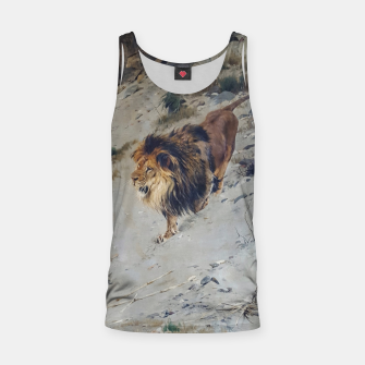 Thumbnail image of Fashion items  of Richard Friese painting, Lion Tank Top, Live Heroes