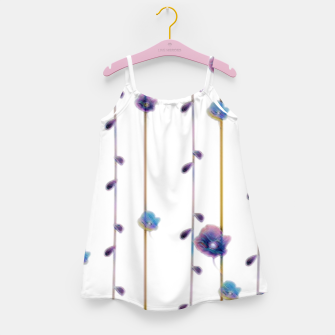 Miniaturka pansies floral minimal pattern Girl's dress, Live Heroes