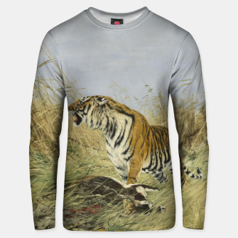 Miniatur Fashion items of Richard Friese painting, Tiger With Antelope Unisex sweater, Live Heroes