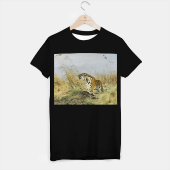 Miniatur Fashion items of Richard Friese painting, Tiger With Antelope T-shirt regular, Live Heroes