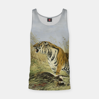 Thumbnail image of Fashion items of Richard Friese painting, Tiger With Antelope Tank Top, Live Heroes