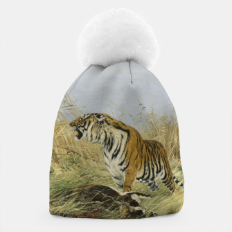 Miniatur Fashion items of Richard Friese painting, Tiger With Antelope Beanie, Live Heroes
