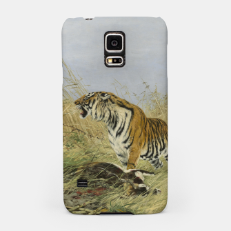Miniatur Fashion items of Richard Friese painting, Tiger With Antelope Samsung Case, Live Heroes