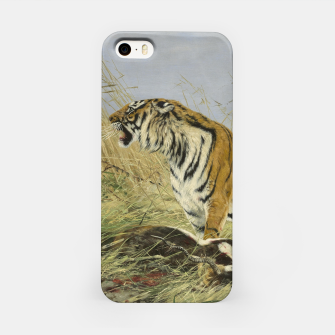 Miniatur Fashion items of Richard Friese painting, Tiger With Antelope iPhone Case, Live Heroes