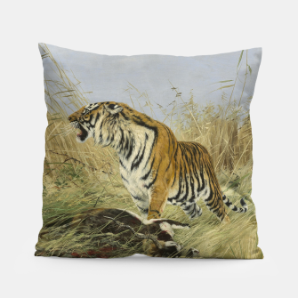 Miniatur Fashion items of Richard Friese painting, Tiger With Antelope Pillow, Live Heroes