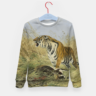 Miniatur Fashion items of Richard Friese painting, Tiger With Antelope Kid's sweater, Live Heroes
