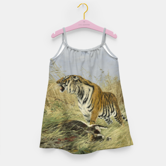 Miniatur Fashion items of Richard Friese painting, Tiger With Antelope Girl's dress, Live Heroes
