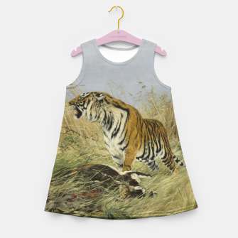 Miniatur Fashion items of Richard Friese painting, Tiger With Antelope Girl's summer dress, Live Heroes
