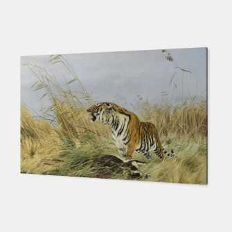 Miniatur Fashion items of Richard Friese painting, Tiger With Antelope Canvas, Live Heroes