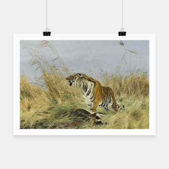 Miniatur Fashion items of Richard Friese painting, Tiger With Antelope Poster, Live Heroes