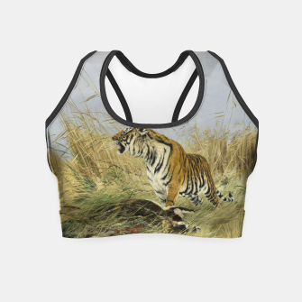 Miniatur Fashion items of Richard Friese painting, Tiger With Antelope Crop Top, Live Heroes