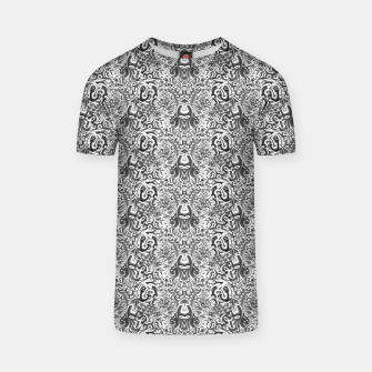 black and white portal pattern2 T-shirt thumbnail image