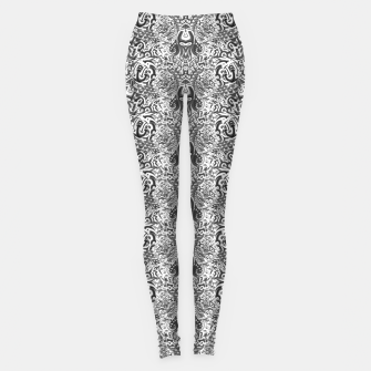 black and white portal pattern2 Leggings thumbnail image