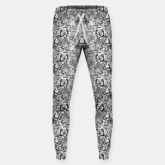 black and white portal pattern2 Sweatpants thumbnail image