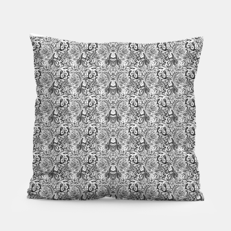 Thumbnail image of black and white portal pattern2 Pillow, Live Heroes