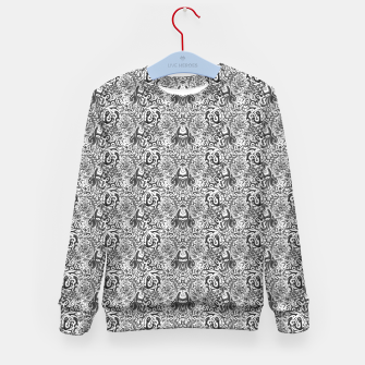 black and white portal pattern2 Kid's sweater thumbnail image