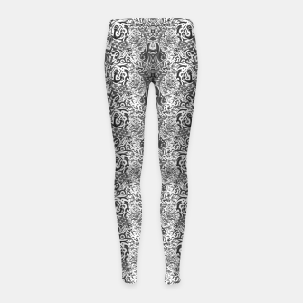 black and white portal pattern2 Girl's leggings thumbnail image