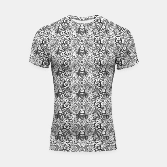 black and white portal pattern2 Shortsleeve rashguard thumbnail image