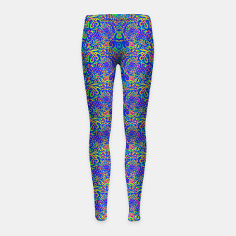 Thumbnail image of dark portal pattern Girl's leggings, Live Heroes