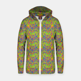 Orange portal pattern Zip up hoodie thumbnail image