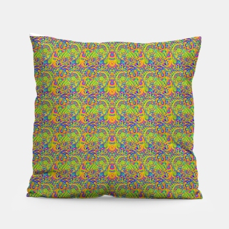 Thumbnail image of Orange portal pattern Pillow, Live Heroes
