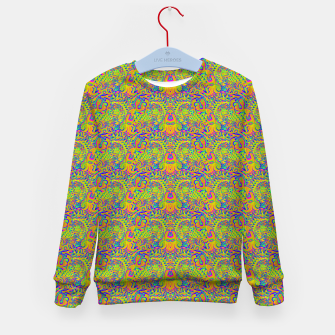 Orange portal pattern Kid's sweater thumbnail image