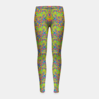 Orange portal pattern Girl's leggings thumbnail image
