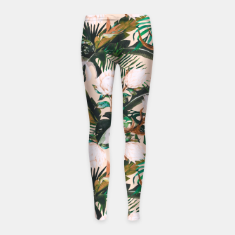 Thumbnail image of Tropical boho 77 Leggings para niña, Live Heroes