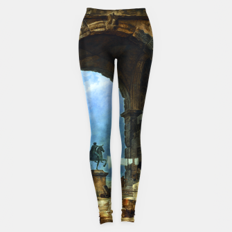 Thumbnail image of Capriccio of Roman Ruins and a Statue of Marcus Aurelius by Hubert Robert Leggings, Live Heroes