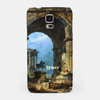 Thumbnail image of Capriccio of Roman Ruins and a Statue of Marcus Aurelius by Hubert Robert Samsung Case, Live Heroes
