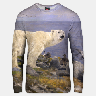Thumbnail image of Fashion items of Richard Friese Painting, Polar bear and Eider Ducks on the Coast Unisex sweater, Live Heroes