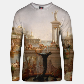 Thumbnail image of  Thomas Cole painting, The Consummation The Course of the Empire Unisex sweater, Live Heroes