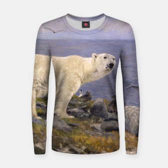 Thumbnail image of Fashion items of Richard Friese Painting, Polar bear and Eider Ducks on the Coast Women sweater, Live Heroes