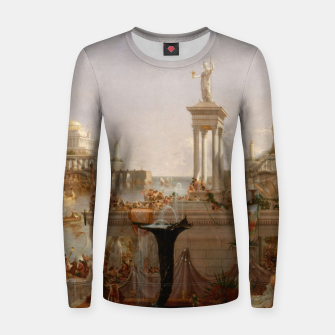 Thumbnail image of  Thomas Cole painting, The Consummation The Course of the Empire Women sweater, Live Heroes