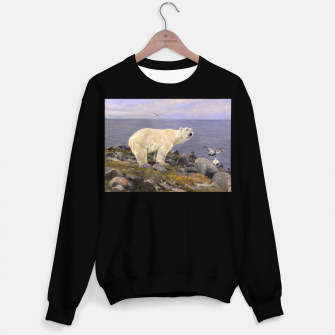 Thumbnail image of Fashion items of Richard Friese Painting, Polar bear and Eider Ducks on the Coast Sweater regular, Live Heroes