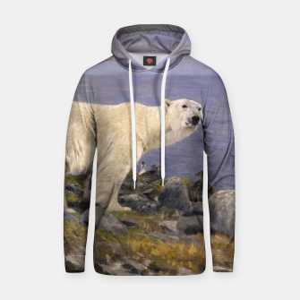 Thumbnail image of Fashion items of Richard Friese Painting, Polar bear and Eider Ducks on the Coast Hoodie, Live Heroes