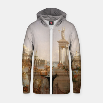 Thumbnail image of  Thomas Cole painting, The Consummation The Course of the Empire Zip up hoodie, Live Heroes