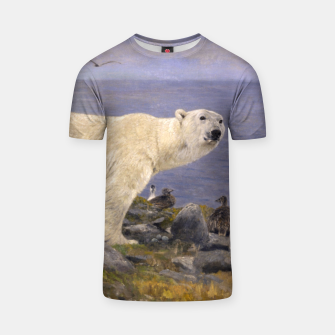 Thumbnail image of Fashion items of Richard Friese Painting, Polar bear and Eider Ducks on the Coast T-shirt, Live Heroes