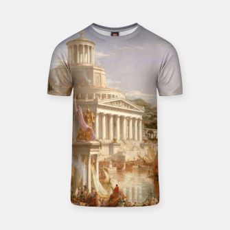 Thumbnail image of  Thomas Cole painting, The Consummation The Course of the Empire T-shirt, Live Heroes