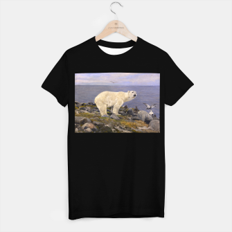 Thumbnail image of Fashion items of Richard Friese Painting, Polar bear and Eider Ducks on the Coast T-shirt regular, Live Heroes