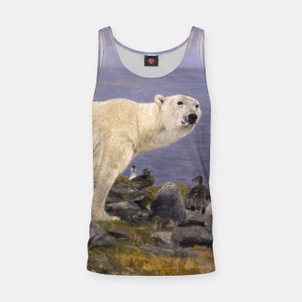 Thumbnail image of Fashion items of Richard Friese Painting, Polar bear and Eider Ducks on the Coast Tank Top, Live Heroes
