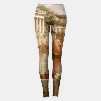 Thumbnail image of  Thomas Cole painting, The Consummation The Course of the Empire Leggings, Live Heroes