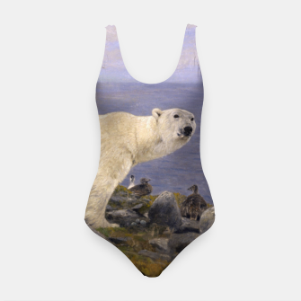Thumbnail image of Fashion items of Richard Friese Painting, Polar bear and Eider Ducks on the Coast Swimsuit, Live Heroes