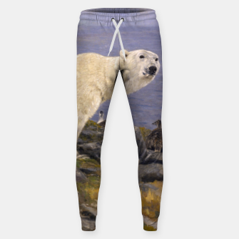 Thumbnail image of Fashion items of Richard Friese Painting, Polar bear and Eider Ducks on the Coast Sweatpants, Live Heroes