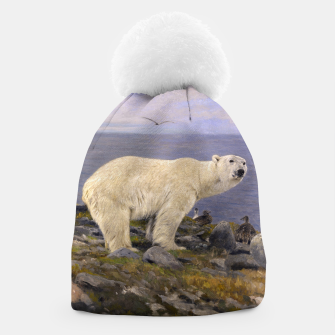 Thumbnail image of Fashion items of Richard Friese Painting, Polar bear and Eider Ducks on the Coast Beanie, Live Heroes